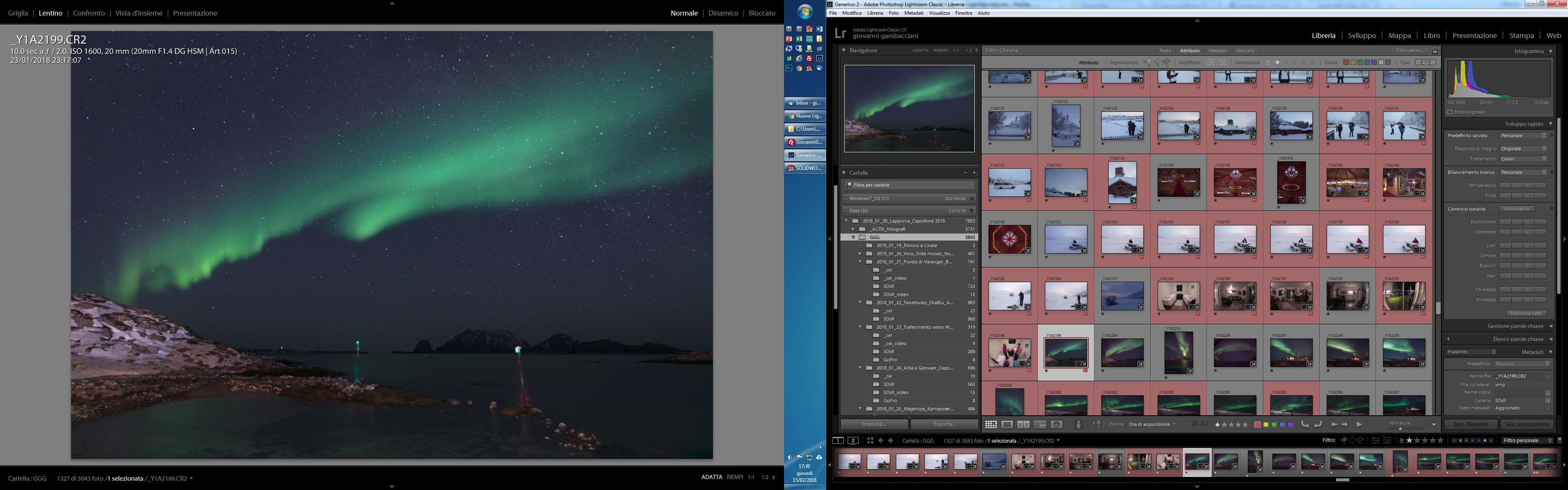 Pillole di Fotografia  doppio_schermo Nuovo LightRoom v7.2 ... Finalmente un pò di velocità!