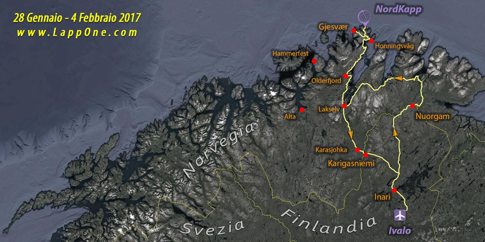 Viaggi di Gruppo  02_lappponia-e-caponord_28gen-4feb2017 [CONCLUSO] Lapponia dal 28 Gennaio al 4 Febbraio 2017