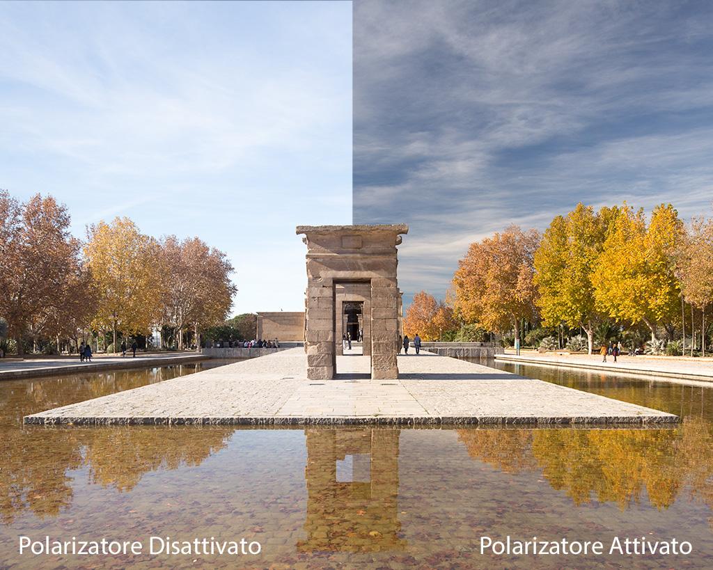 Pillole di Fotografia  Gambacciani-Polarizzatore-confronto-Madrid Il Polarizzatore : Indispensabile compagno di VIAGGIO