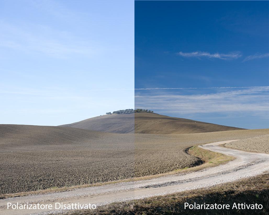 Pillole di Fotografia  Gambacciani-Polarizzatore-confronto-val-orcia Il Polarizzatore : Indispensabile compagno di VIAGGIO
