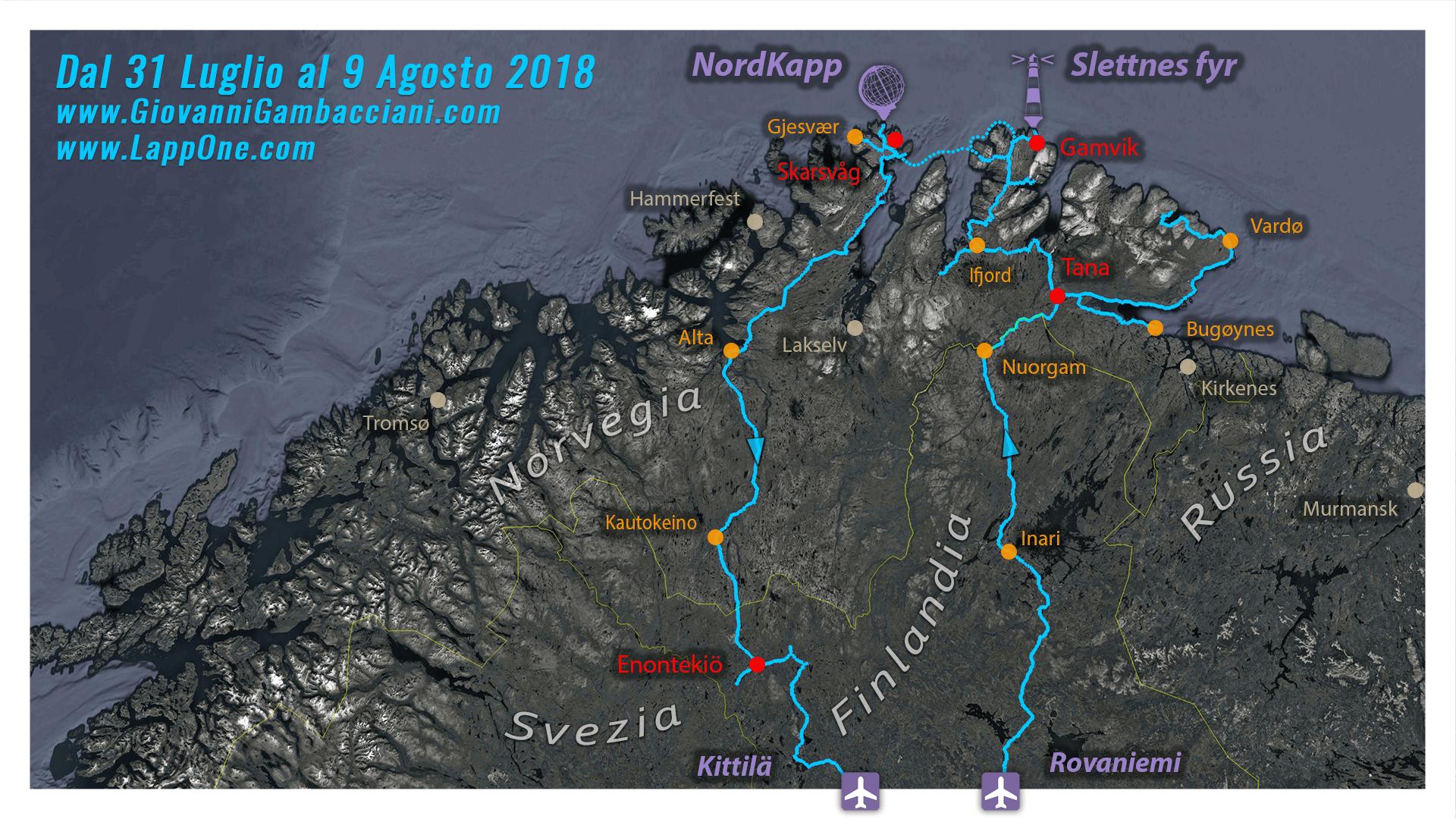 Viaggi di Gruppo  2018_07_31_CapoNord_pulmino_mappa_02 [CONCLUSO] La Norvegia Sconosciuta. Dal 31 Luglio al 9 Agosto 2018