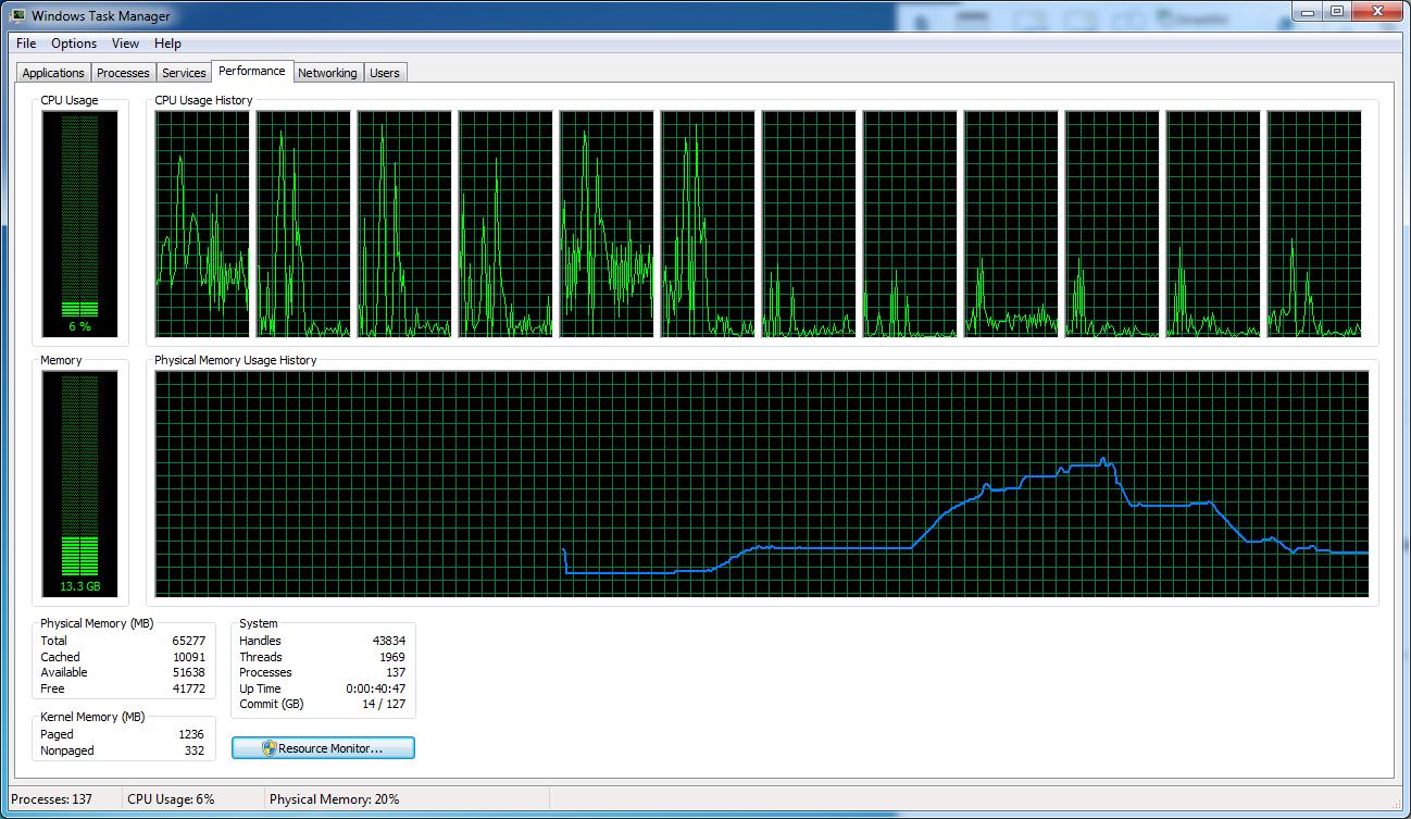Pillole di Fotografia  LR7.1_Lenovo_PANO_TaskMenager Nuovo LightRoom v7.2 ... Finalmente un pò di velocità!