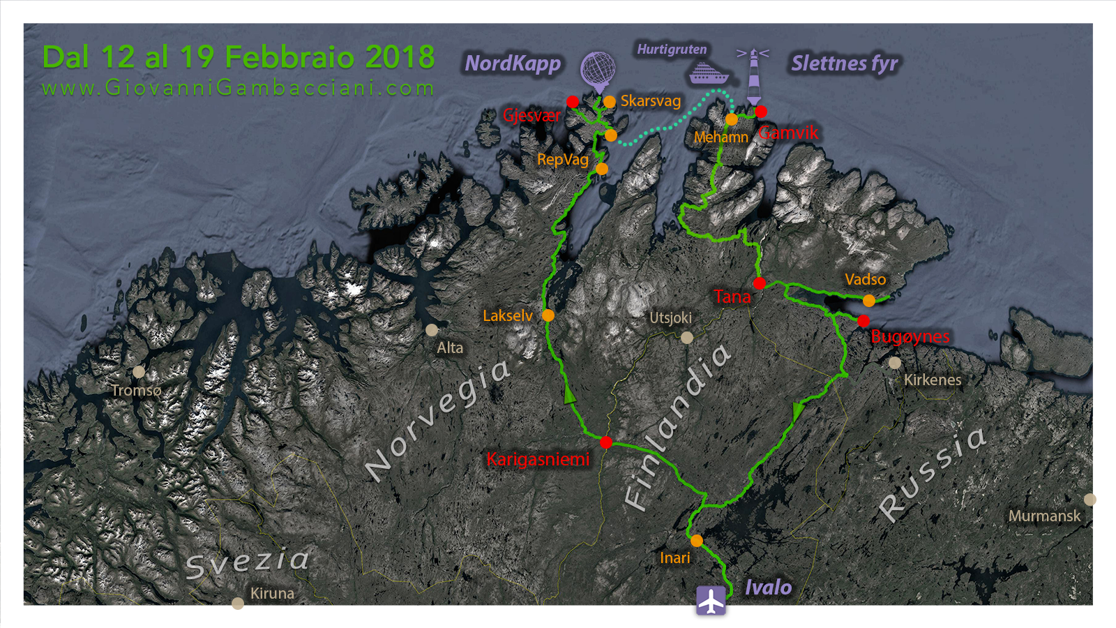 Viaggi di Gruppo  2019_02_12-19_mappa_03 [CONCLUSO] Finnmark, la Norvegia Sconosciuta. Viaggio fotografico. 12-19 FEB 2019