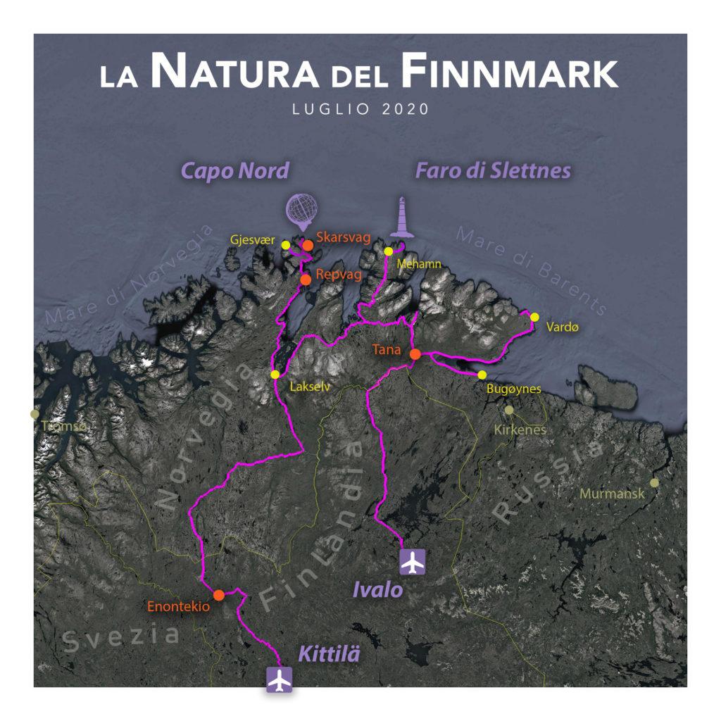 Viaggi di Gruppo  2020_08_FinnMark_mappa01B-1024x1024 [ANTEPRIMA] FINE LUGLIO 2020, LA NATURA DEL FINNMARK