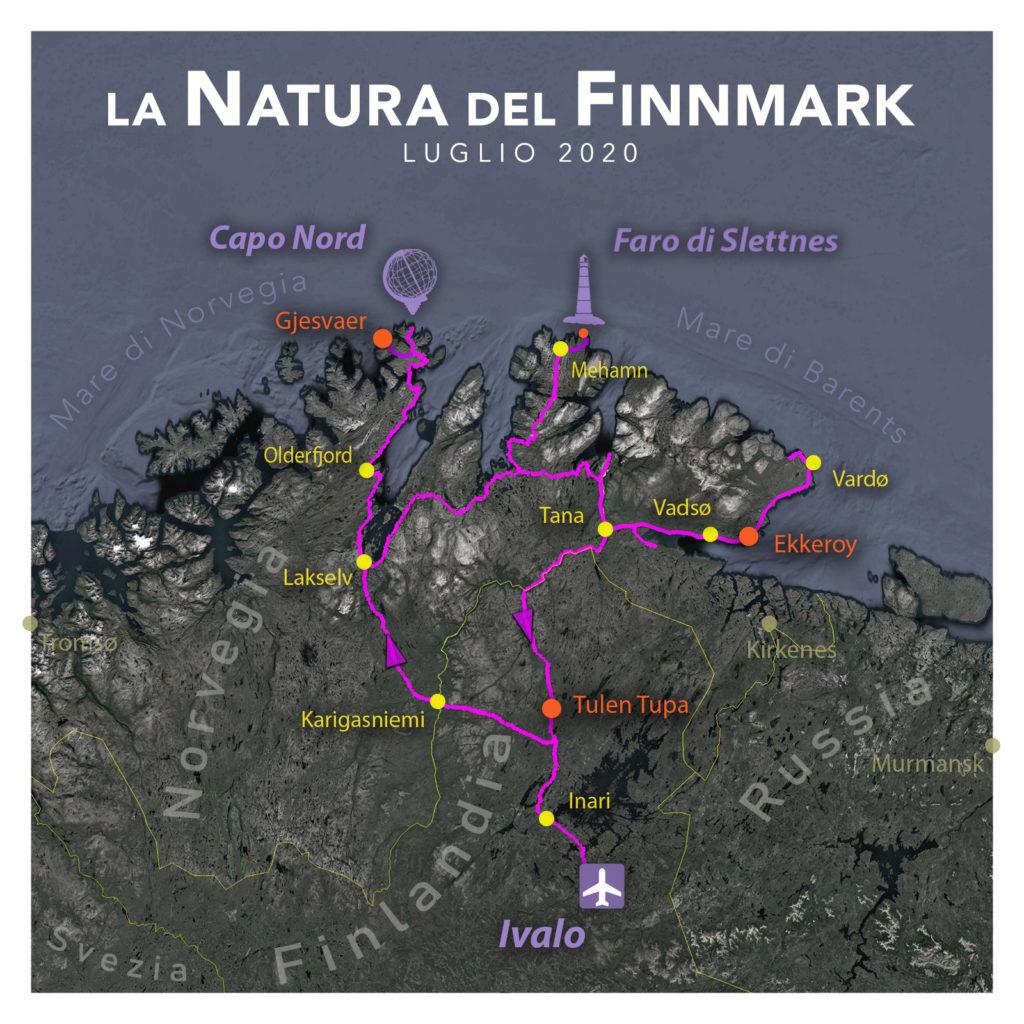 Viaggi di Gruppo  2020_08_FinnMark_mappa02B-1024x1024 [RINVIATO al 2021] AGOSTO 2020, LA NATURA DEL FINNMARK