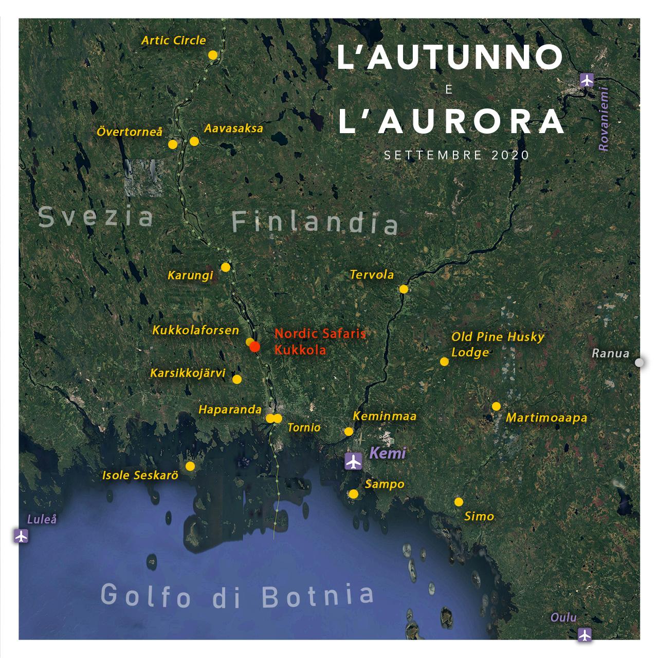 Viaggi di Gruppo  2020_09_10-mappa-workshop-autunno_3_kukkola [RINVIATO al 2021] Settembre 2020, L'Autunno e L'Aurora