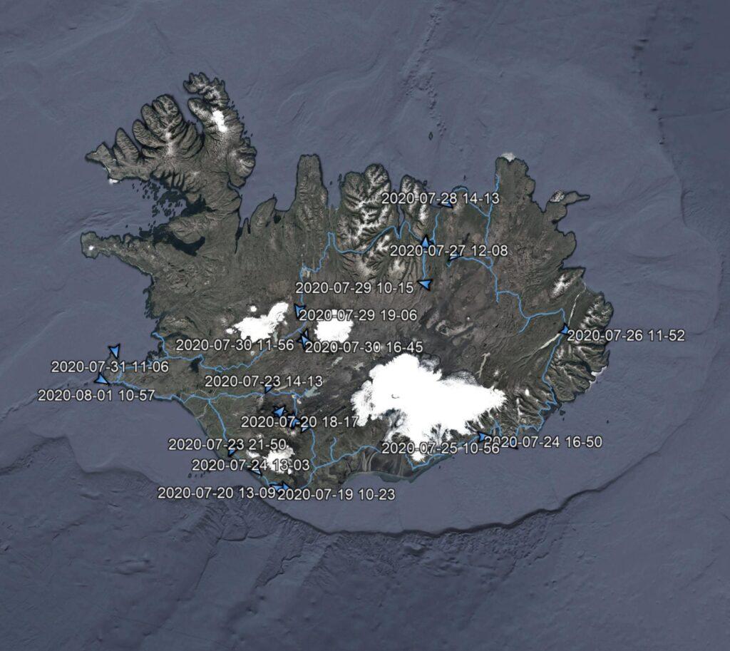 Gallerie dai Viaggi  mappa_tracciato-scaled-e1621188243268-1024x913 LUGLIO 2020 - ANIMALI D' ISLANDA
