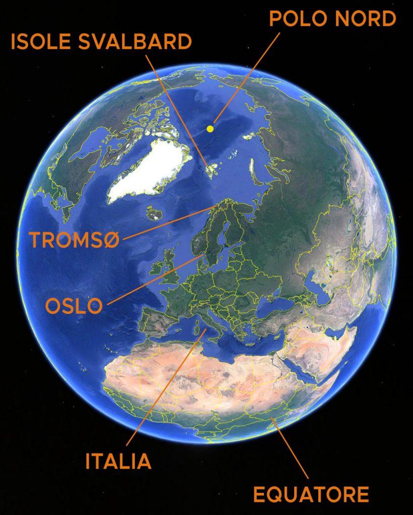 Viaggi di Gruppo  mappamondo_svalbardtromso-820x1024 [CONCLUSO] 28 Agosto, 5 Settembre 2021. Alla Fine del Mondo, con Giulia Bimbi